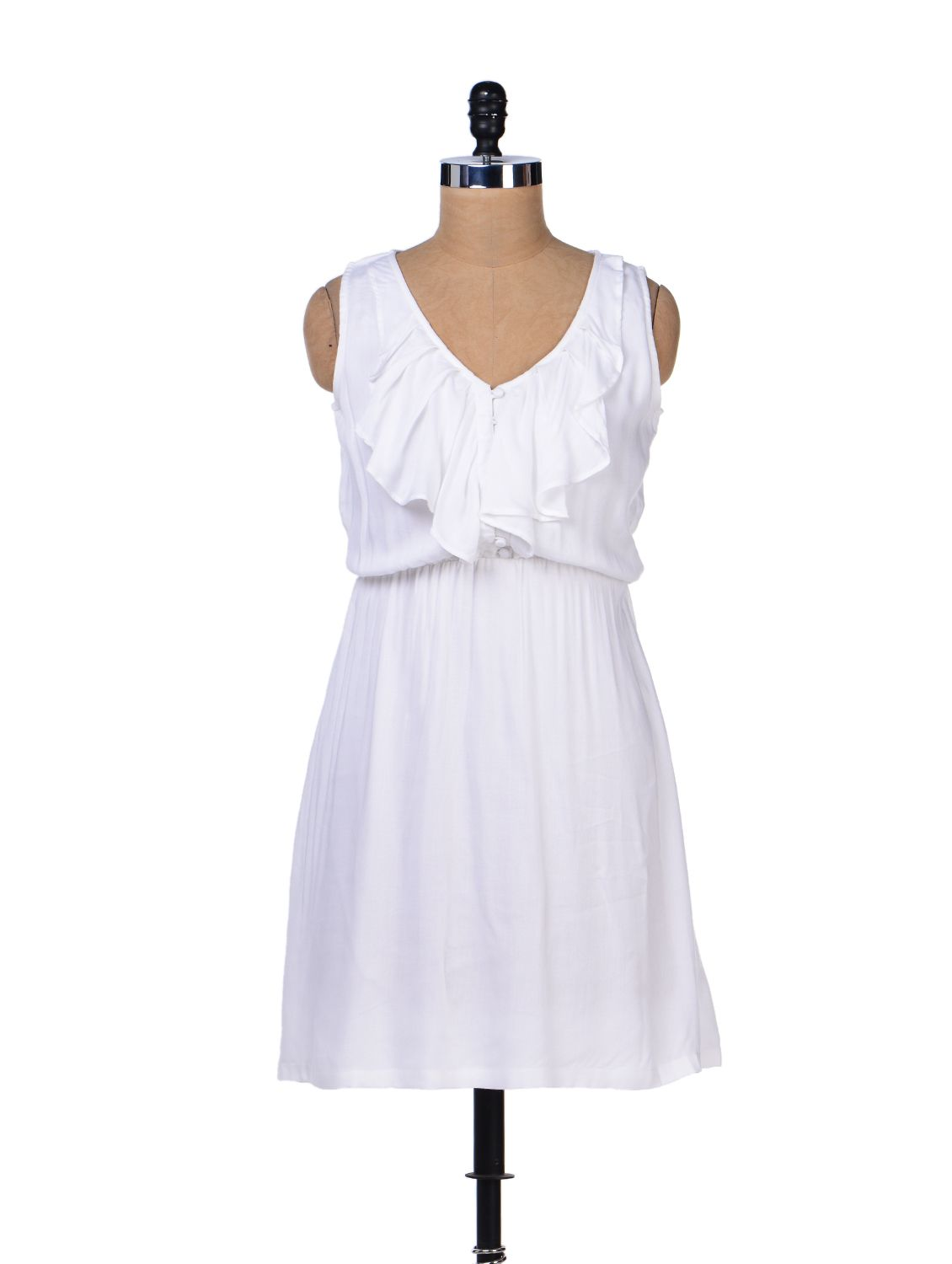 How to create scrapbook on limeroad - Lovely White Ruffle Dress From Femella Limeroad Shopping Dresses Dress