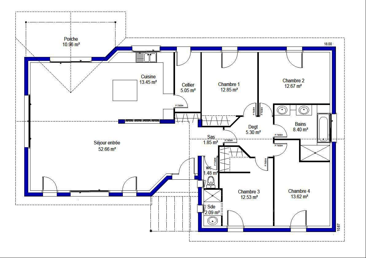 Maison   Stella   Maisons LARA Bordeaux Lac   169166 Euros   142 M2 | Faire