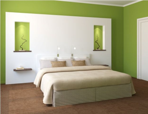 Nice Green Paint Colors for Bedroom Modern bedroom interior ...
