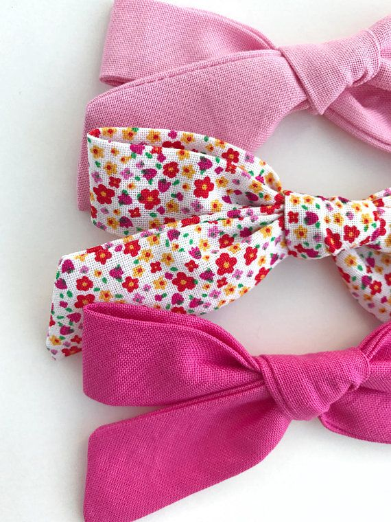 f23c131807635 Girly Girl Hair Bow Set | School Girl Bow Set | Baby Girl Bow Set ...