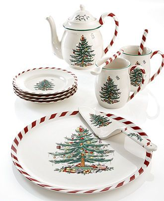 Spode Dinnerware, Christmas Tree Peppermint Collection Spode china