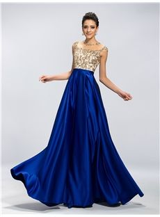Elegant A-Line Beading Applique Floor Length Evening/Prom Dress ...