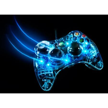 Xbox 360 Afterglow Controller, Blue (Xbox 360) | #external