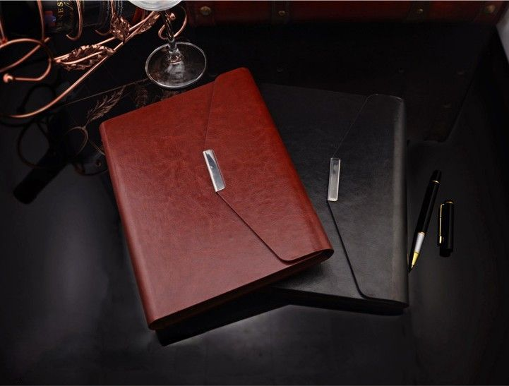 Leather Cover Business office luxury notebook 2015 spiral diary - business agenda small medium enterprises