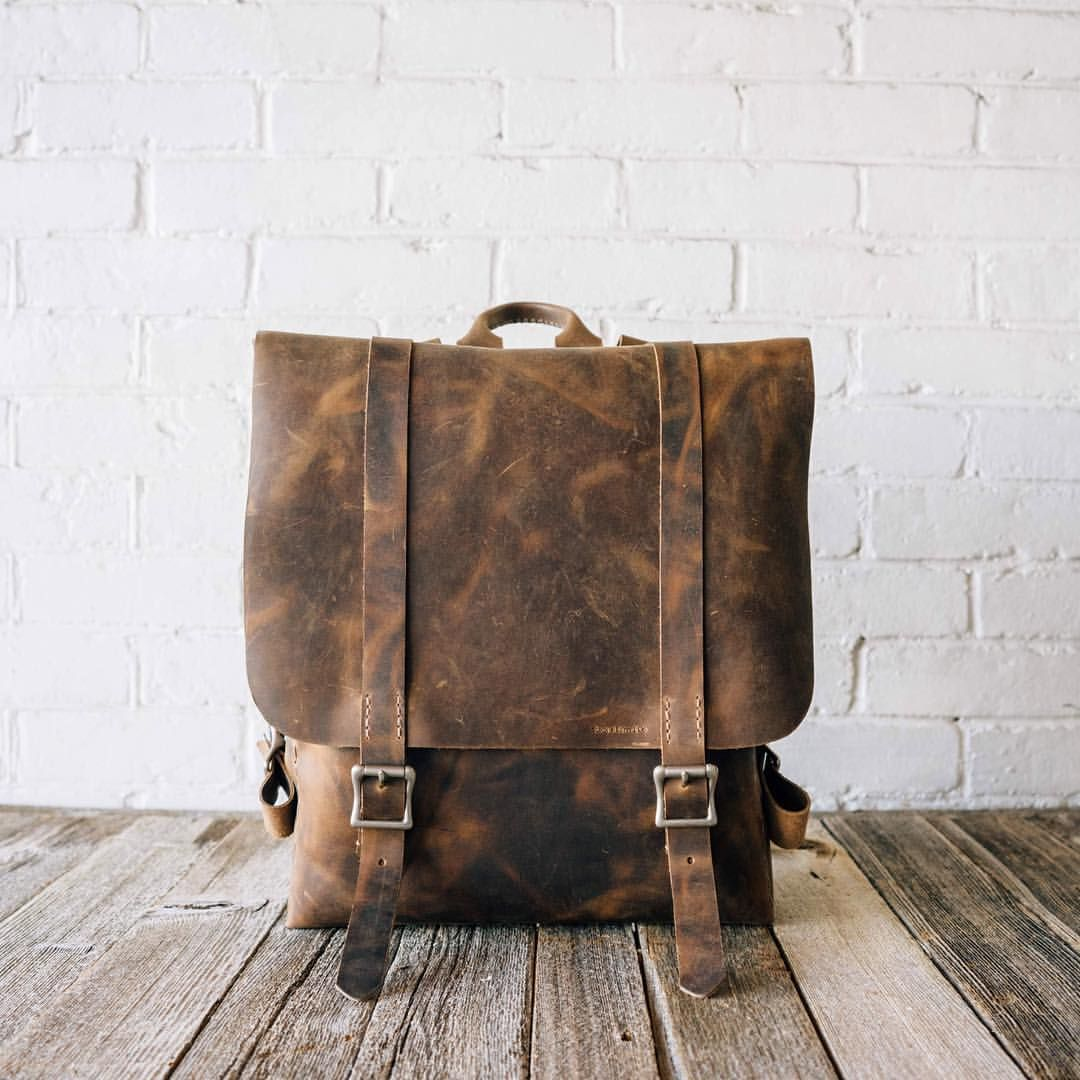 Stock & Barrel Co (The NEW No.42 | 'vintage brown' leather backpack...)