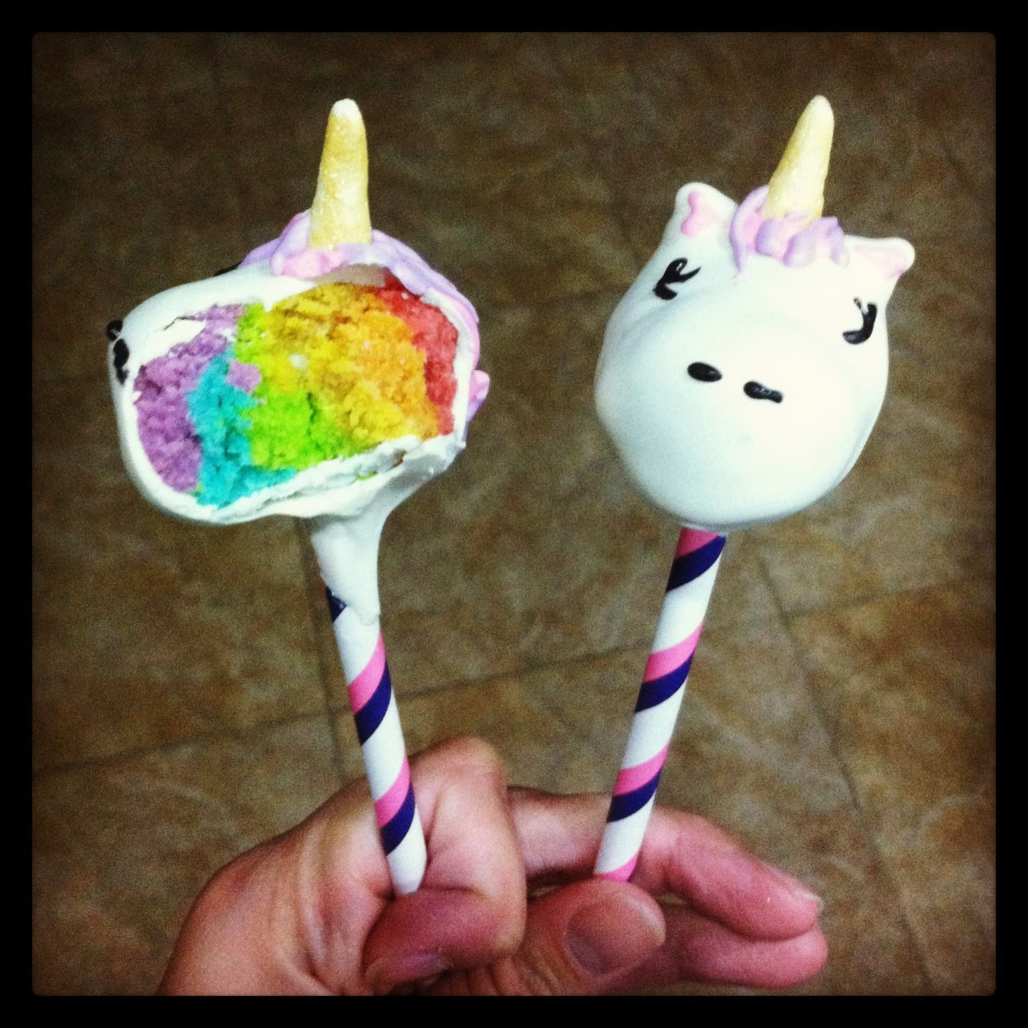 7 Layer Pineapple Cake: Unicorn Cake Pops!! They Are Magically Delicious!