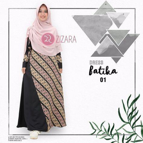 Gamis Zizara Batika Dress 01 - baju muslimah busana muslim Kini hadir  untukmu yang cantik syari ed0472d2e9