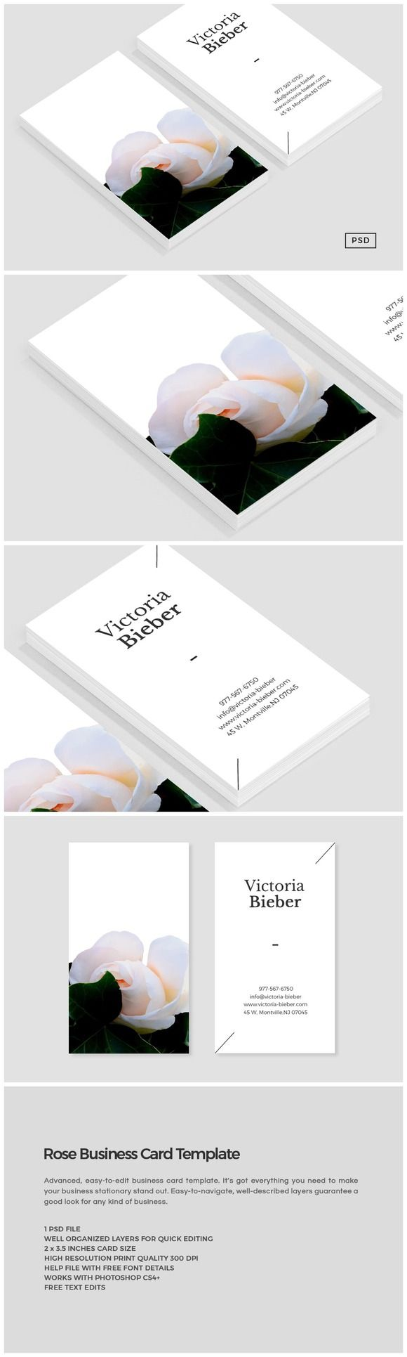 Rose Business Card Template Free Business Card Templates Business Card Design Card Design