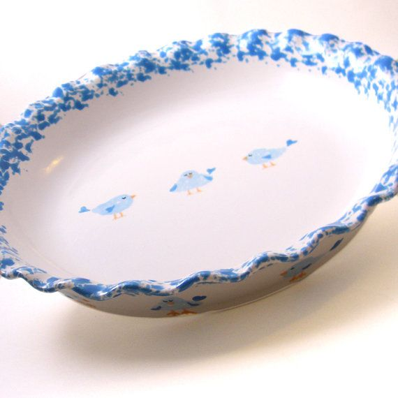Bluebird Pie Dish Personalized Pie Plate Cute Bird by ThePigPen $45.00  sc 1 st  Pinterest : personalized pie plate - pezcame.com
