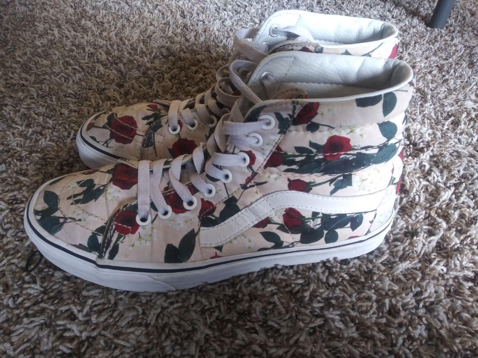 Rose petal vans. Custom looking shoe in