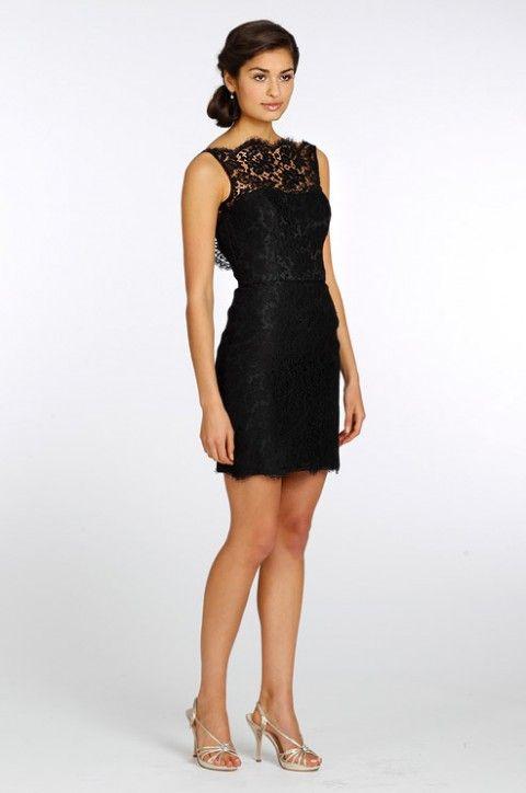 3bc6a7e167 25 Preciosos Vestidos de Damas de Honor de color Negro - Bodas