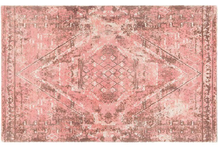 Love The Antique Look Of This Dusty Pink Persian Inspired Area Rug