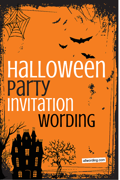 Halloween Party Invitation Wording Halloween party