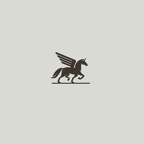 From Shevacreative Winged Unicorn Logoawesome Logo Logodesign Logos Creative Sheva Brand Typography Logo Inspiration Unicorn Logo Graphic Design Logo