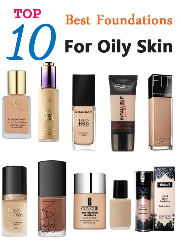 top 10 best foundations for oily skin trucs de filles pinterest maquillage fond de teint. Black Bedroom Furniture Sets. Home Design Ideas
