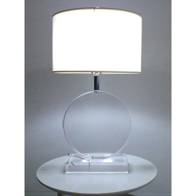 Lucite Table Lamp: Image of Lucite Table Lamp in the manner of Karl Springer,Lighting