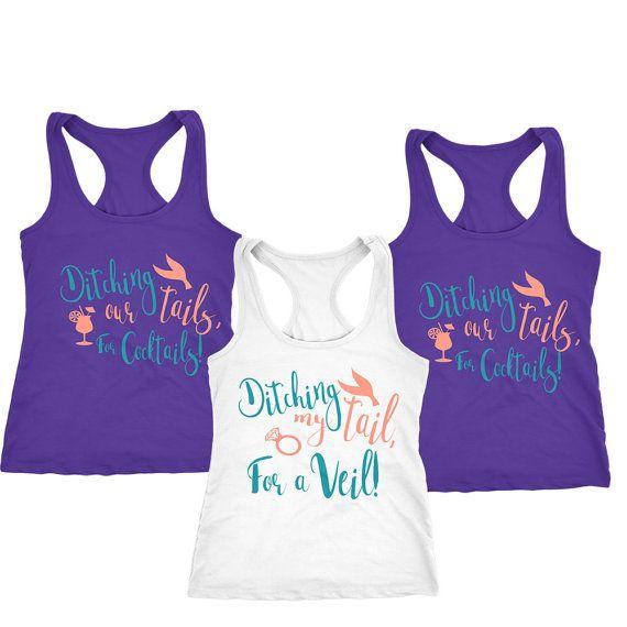 ed51da40301 Mermaid Bachelorette Mermaid Tank Tops Mermaid Shirts Bridesmaid Shirt by  CitraLily