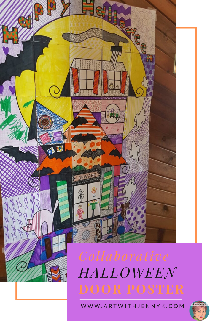 Collaborative Halloween Door Poster #halloweendoordecorations