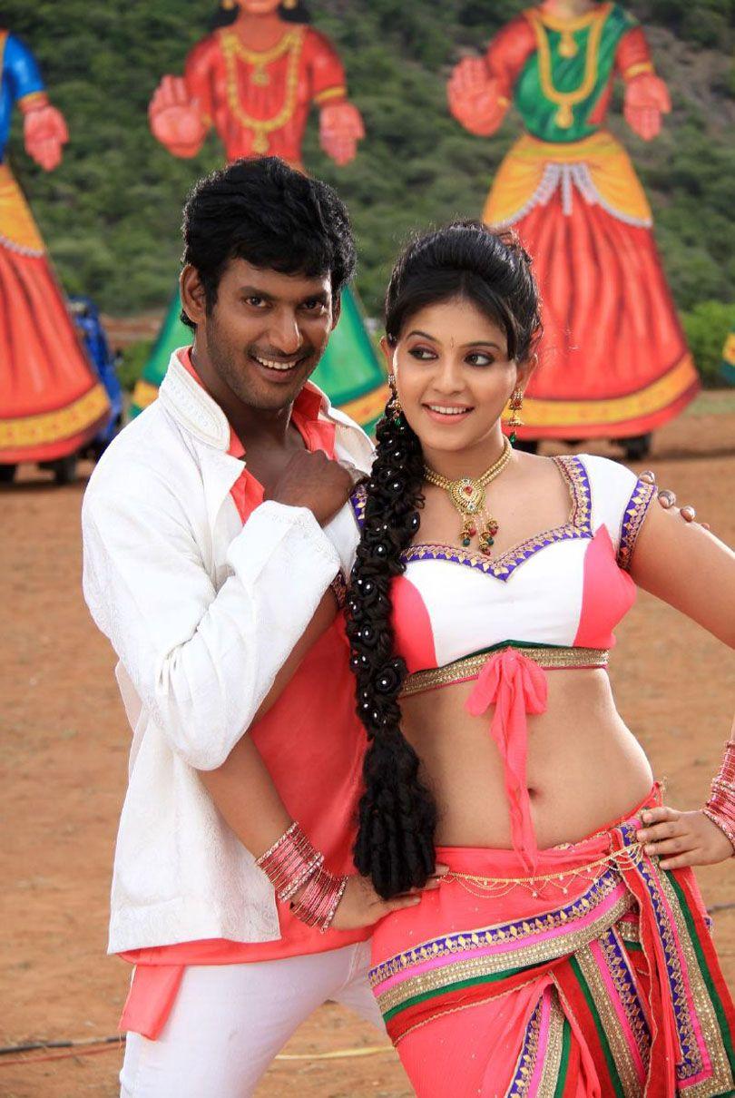anjali hot navel show photos madha gaja raja movie - latest telugu