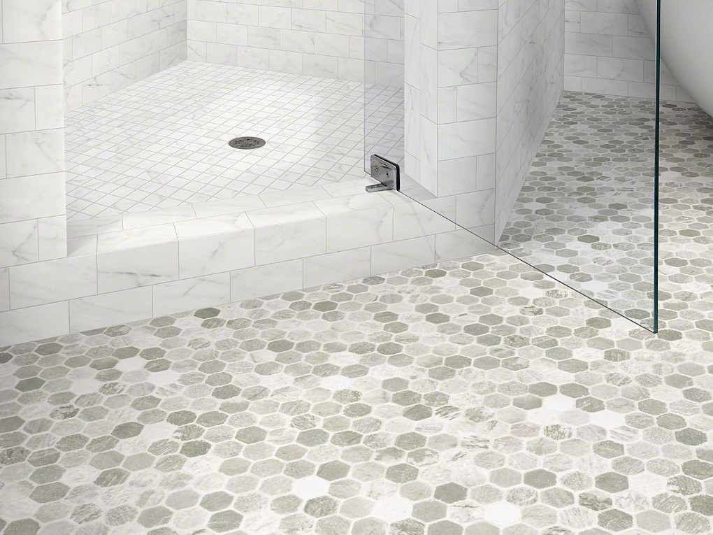 Shaw 39 s hercules sa624 samos resilient vinyl flooring is for Tile linoleum bathroom