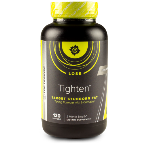 Tighten™, a premium toning supplement for both men & women, is designed to reduce stubborn fat areas around the stomach, waist, hips and thighs. This stimulant free product will help you with cravings and the urge to snack. So before you have some salt, then some sugar, take Tighten™! ‡