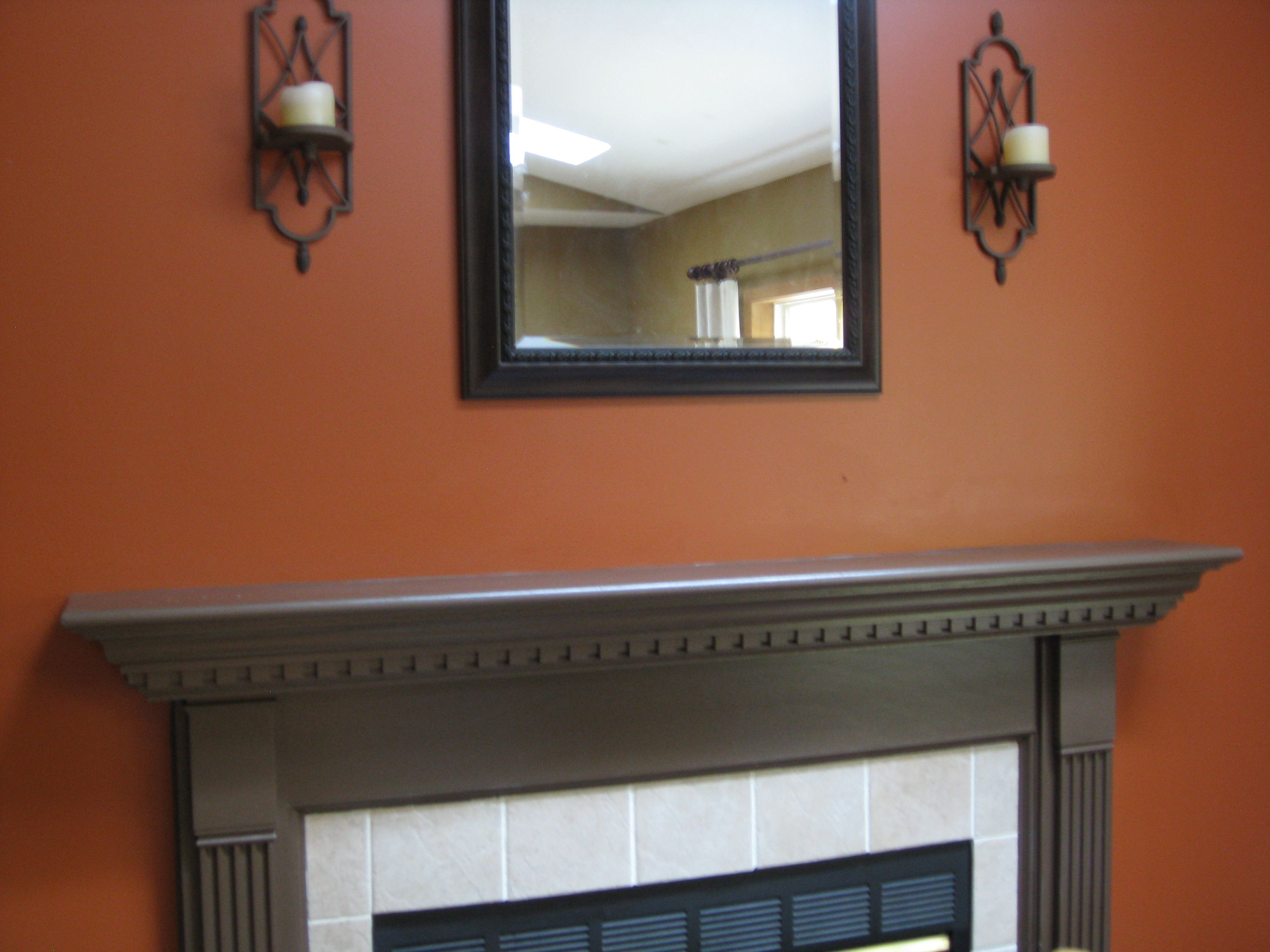 Copper Accent Wall I Painted My Loft A Burnt Orange Color Like This I Was