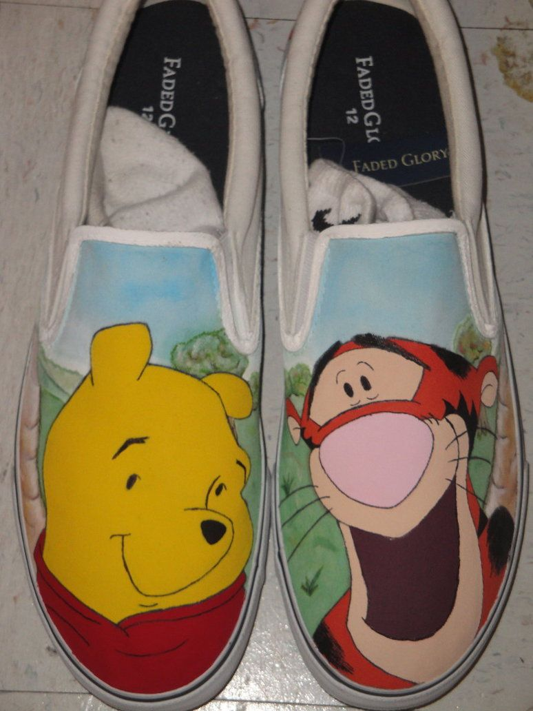 Winnie the Pooh and Tigger Canvas Shoes  2951818e5
