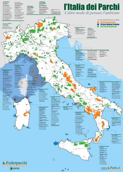 Areas Of Italy Map.Parks And Protected Areas In Italy The Power Of Maps