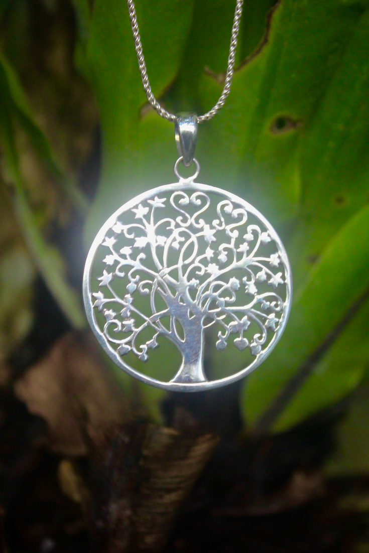 Tree of life pendant 925 silver jewelry necklace the tree tree of life pendant the tree represents your life visit the website for more meaning by sembilan beauty jewelry aloadofball Choice Image