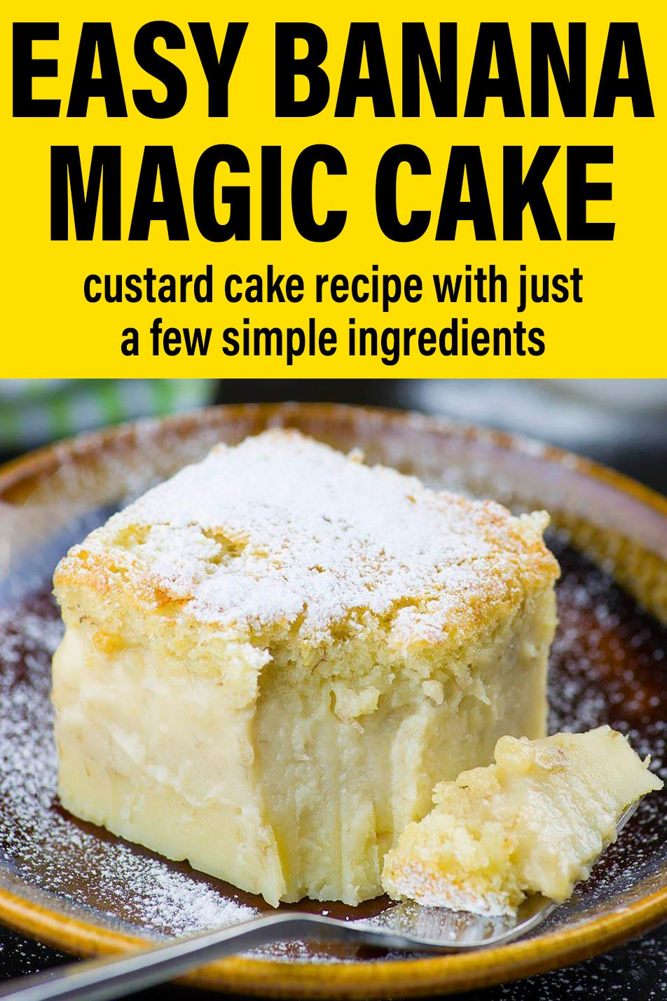 Easy Banana Magic Cake