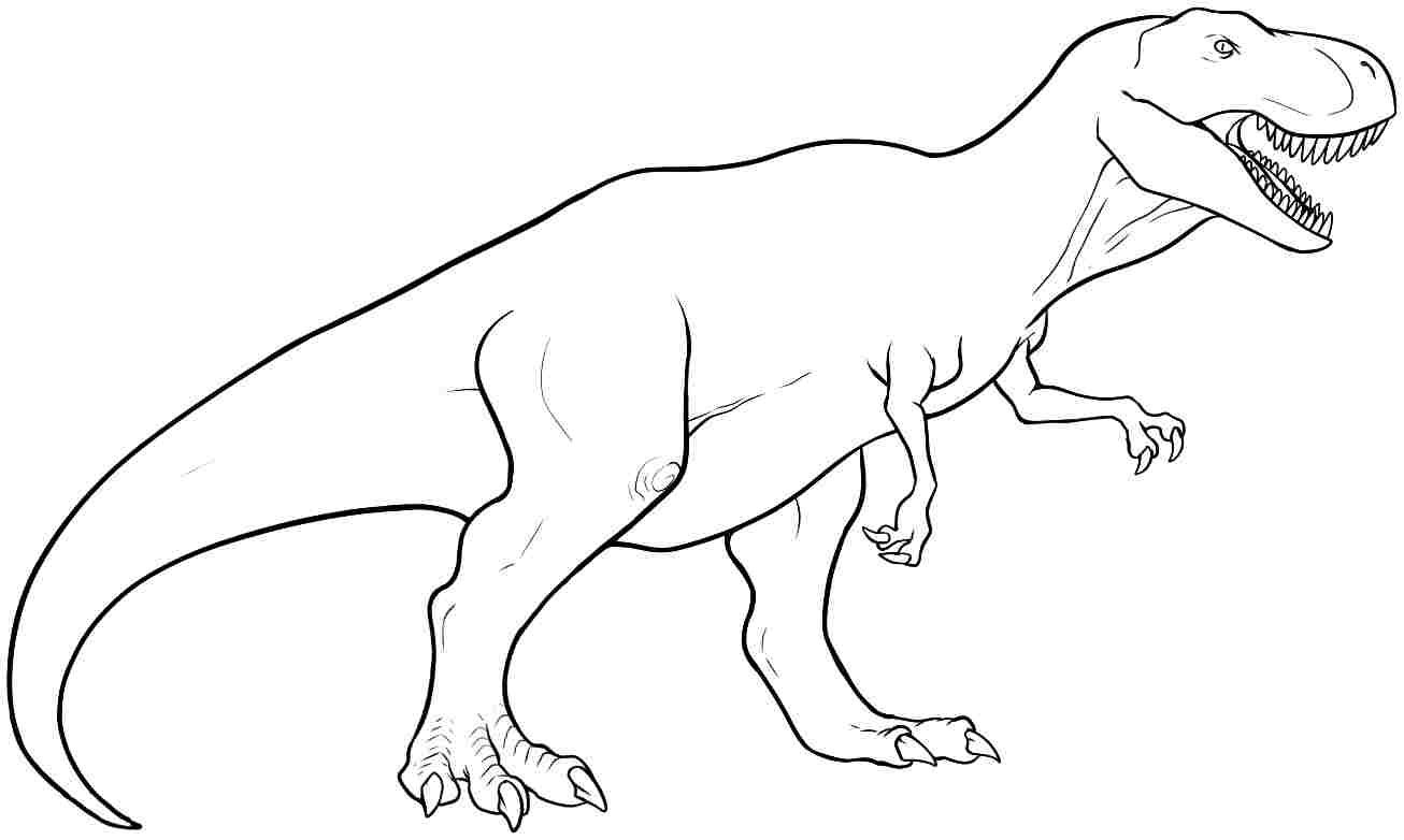 T Rex Coloring Pages For Preschoolers