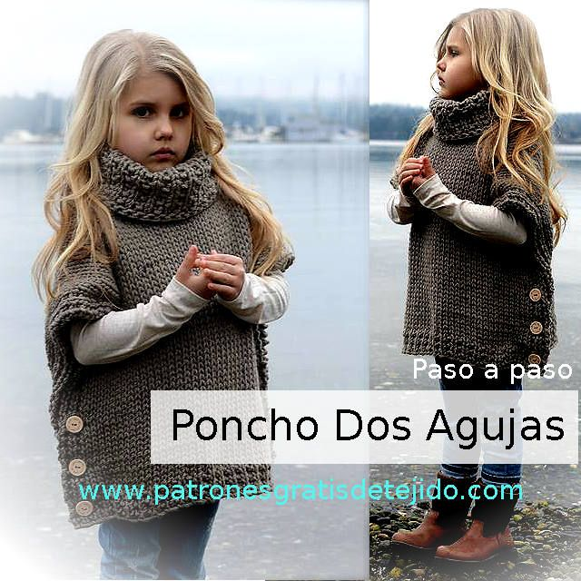 tutorial poncho tejido con palitos … | Pinteres…