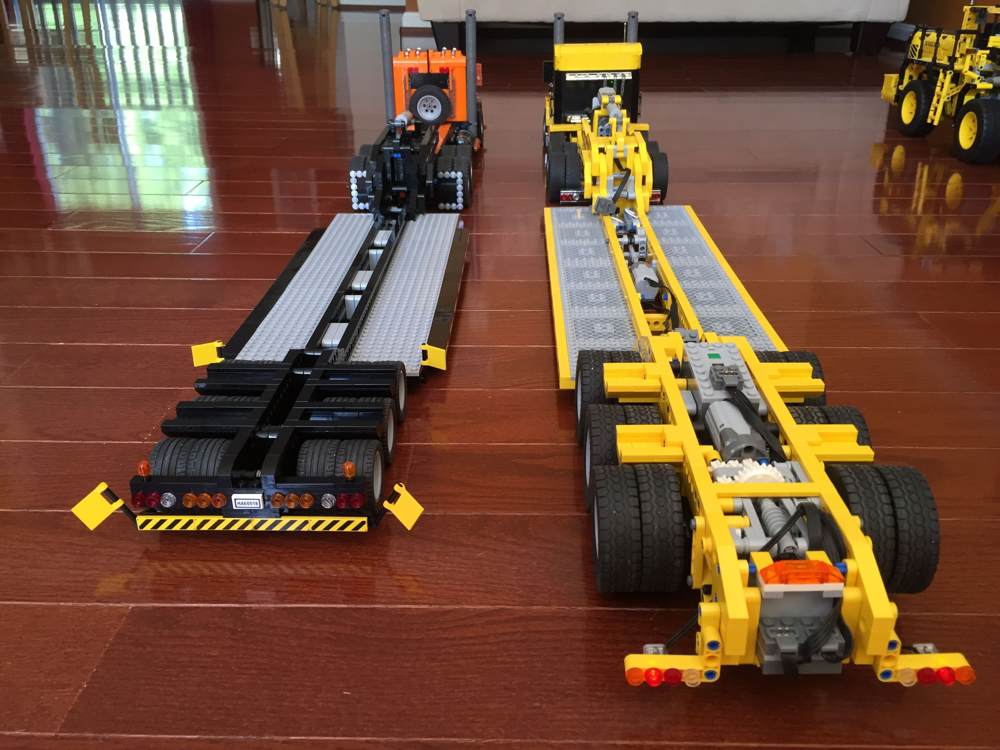 lowboy bricksafe lego technic modelle lego lkw lego. Black Bedroom Furniture Sets. Home Design Ideas