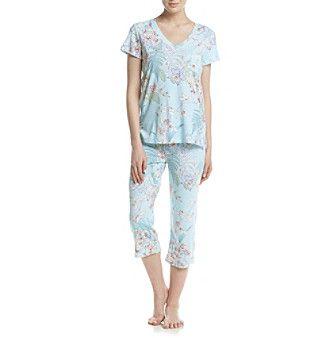 Miss Elaine® Floral Printed Pajama Set