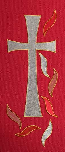 Red stole design cross and flames   Corpus Christi   Pinterest ...