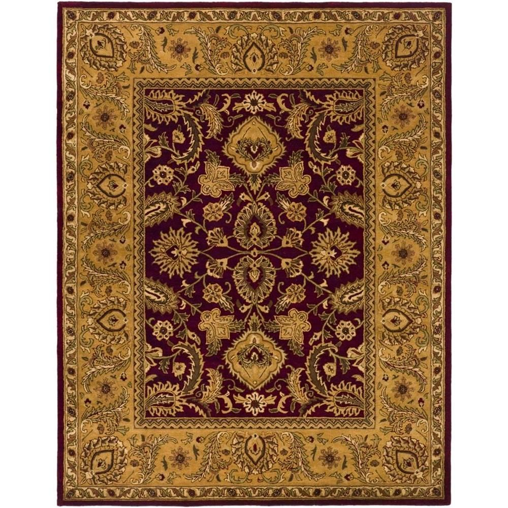 Safavieh Classic Burgundy Gold 8 Ft X 10 Ft Area Rug Cl244a 8