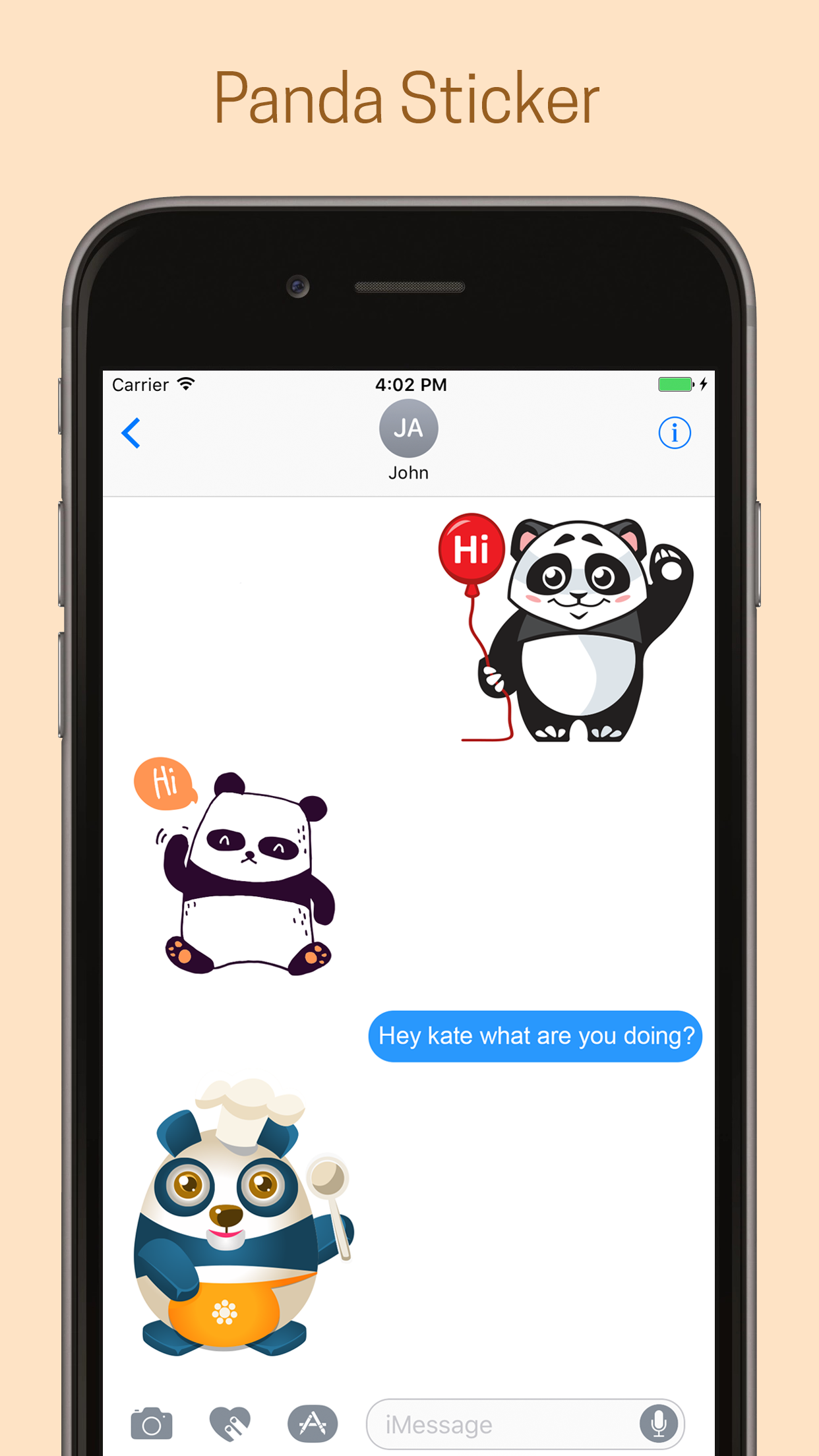 Panda Emoji Stickers - Pack #New #iMessage #CoolEmotion