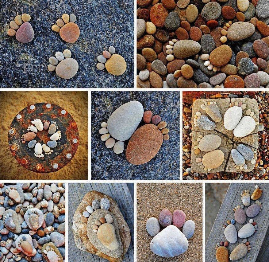 Stone pebble footprints stone gardens and rock stone pebble footprints do it yourself fun ideas solutioingenieria Image collections