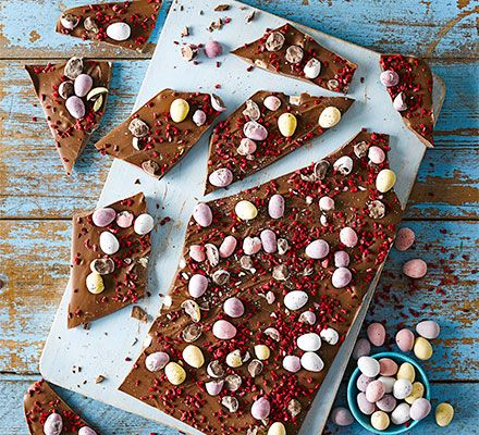 Easter chocolate bark recipe easter alternative and egg easter chocolate bark negle Images