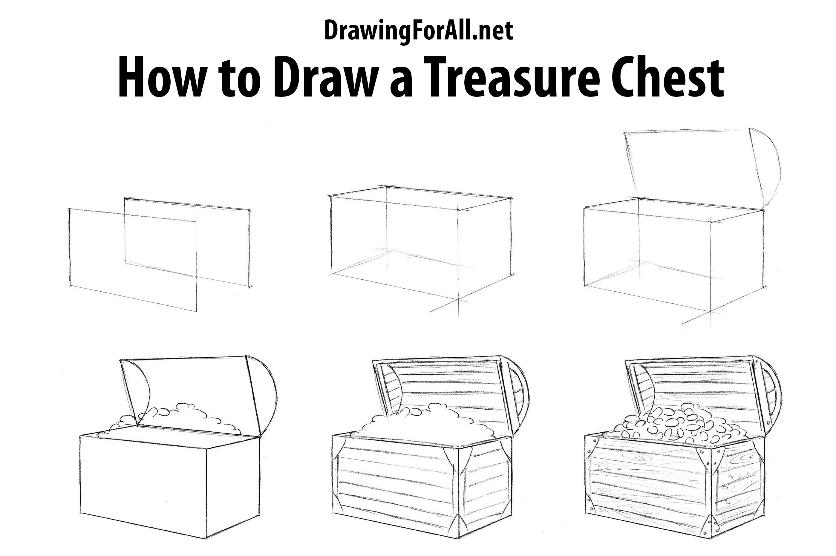 how to draw a treasure chest how to draw pinterest treasure