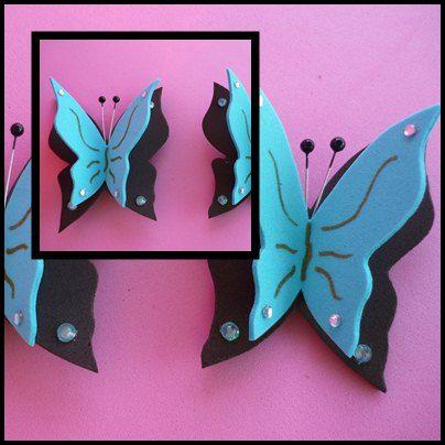 Colecci n mariposa decorar tu casa mariposas y personalizar - Como hacer mariposas de goma eva ...