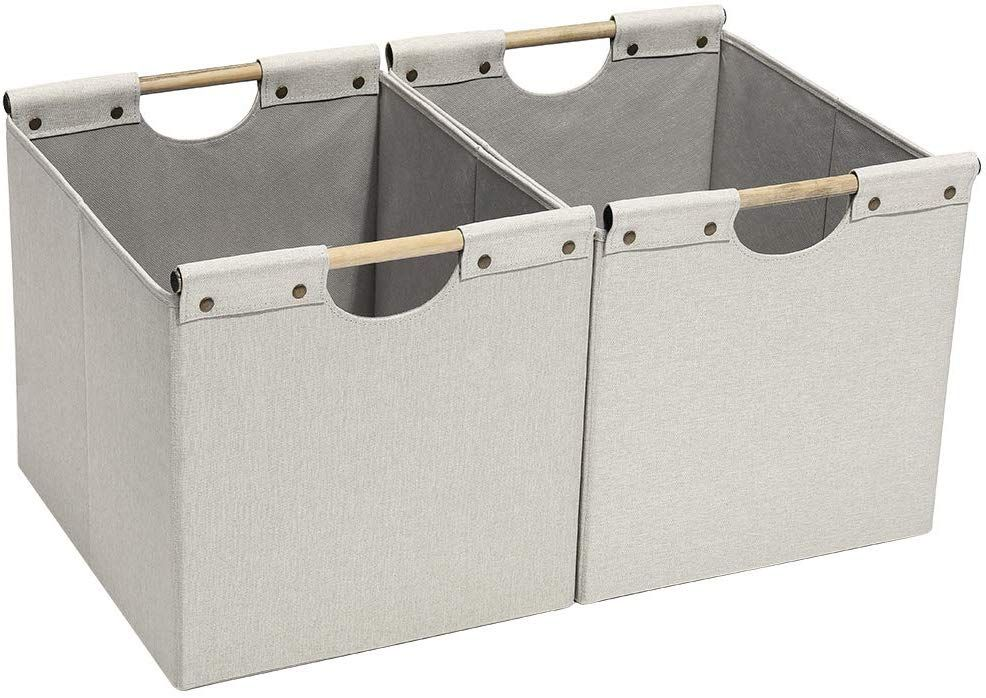 10 Brilliant Organizers We Found On Amazon Home This Year In 2020 Collapsible Storage Bins Fabric Storage Bins Organizing Bins
