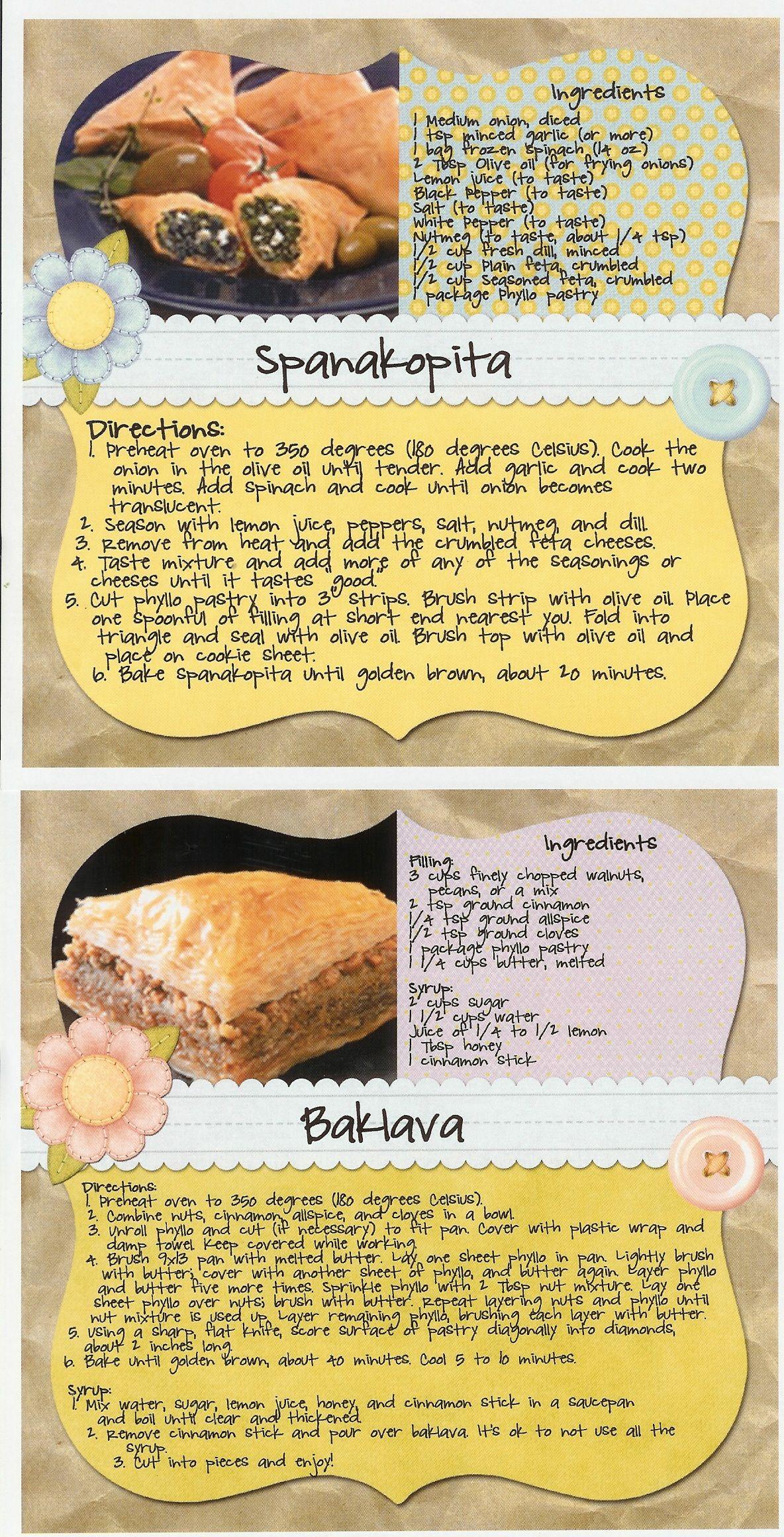Spanakopita Baklava For Our Ancient Greek Night Ancient Greek Food Greek Recipes Greek Dinners