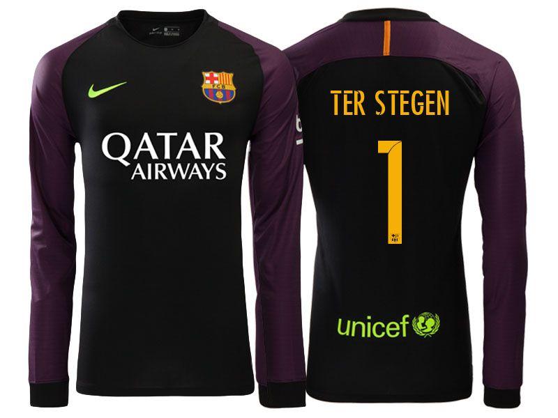 Resultado de imagen para camiseta de arquero ter stegen del barcelona ultimo modelo - Barcelona ...