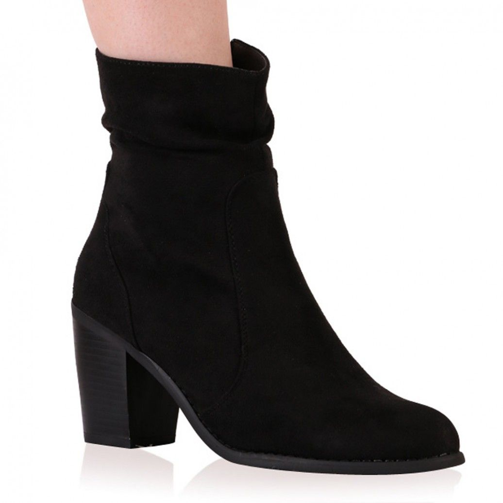 0ac5bd1b15a Amerie Ankle Boots in Black Faux Suede