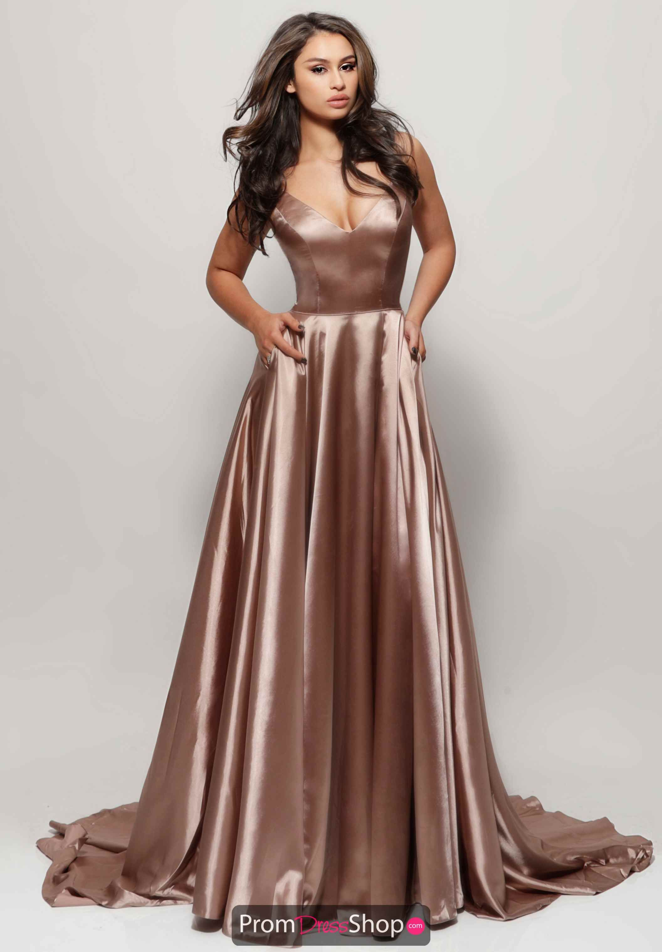 106681b789 Sherri Hill Long Satin Dress 52119 in 2019