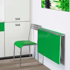 Mesa cocina abatible-plegable pared cristal Alma   decoración del ...