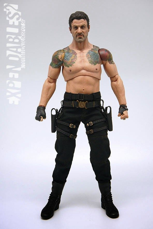 """HOT TOYS Expendables 2 BARNEY ROSS 12/"""" 1//6 Scale Figure Sideshow Stallone NEW"""