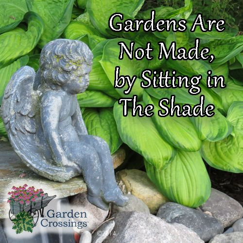 Garden are not made by sitting in the shade