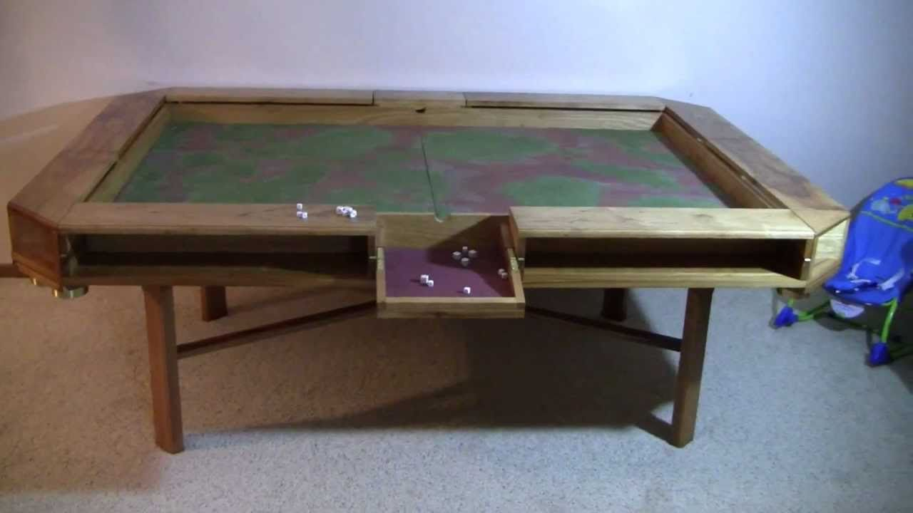 Build your own pool table plans - Optional Die Rolling Area Flips Open In Centre Of Table Long Sides Find This Pin And More On Furniture Diy